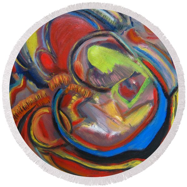 Abstract Life Round Beach Towel