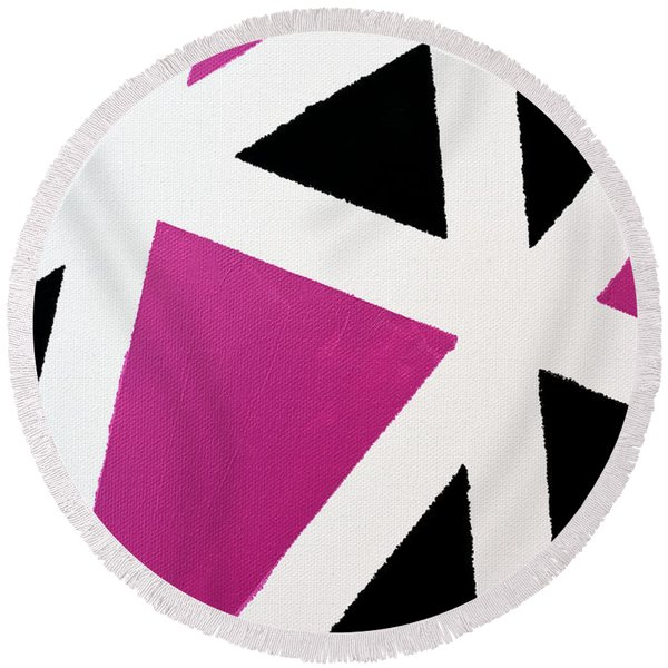 Abstract M1015l Round Beach Towel
