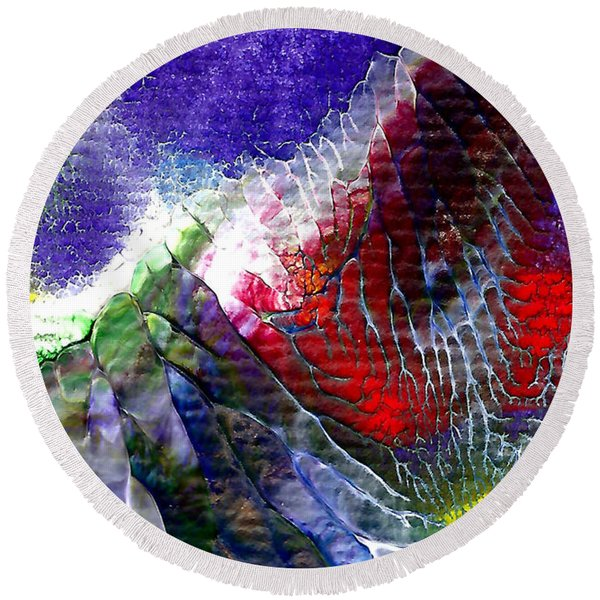 Abstract Series 0615a-3 Round Beach Towel