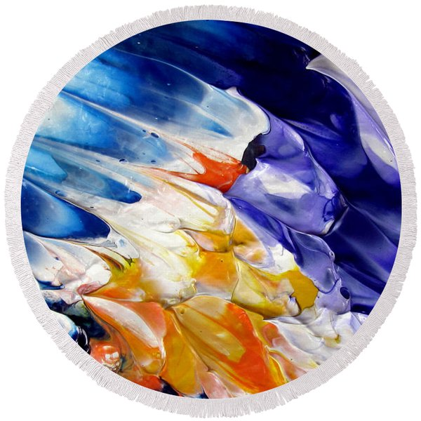 Abstract Series 0615a-4-l2 Round Beach Towel