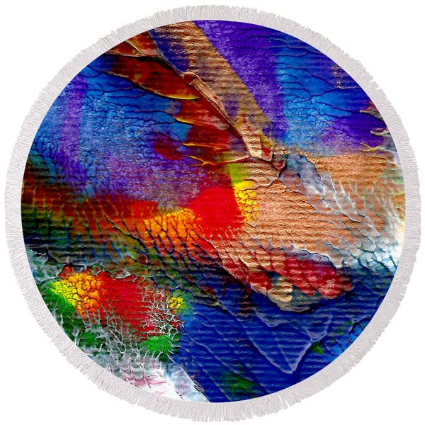 Abstract Series 0615a-5 Round Beach Towel