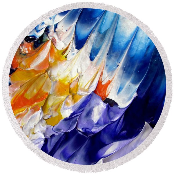 Abstract Series 0615a-6p1 Round Beach Towel