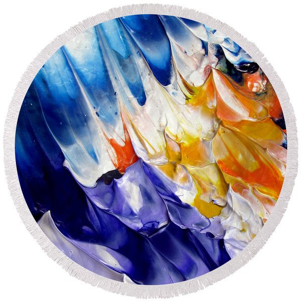 Abstract Series 0615a-6p2 Round Beach Towel