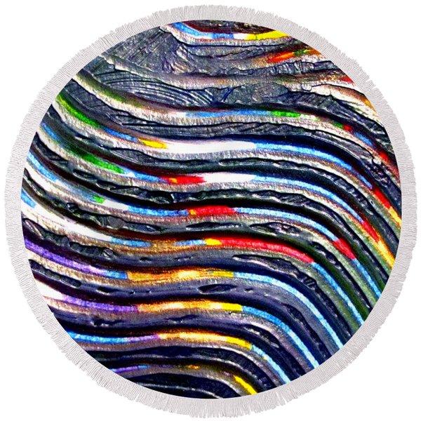 Abstract Series 0615b1 Round Beach Towel