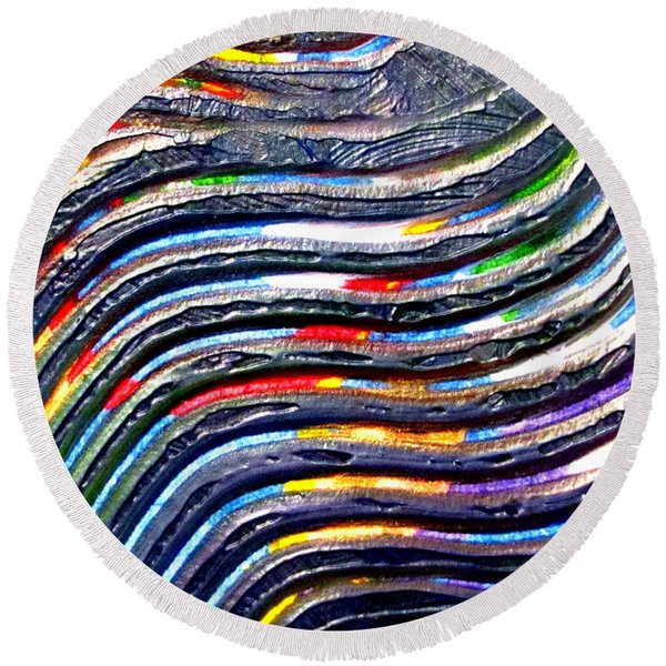Abstract Series 0615c1 Round Beach Towel