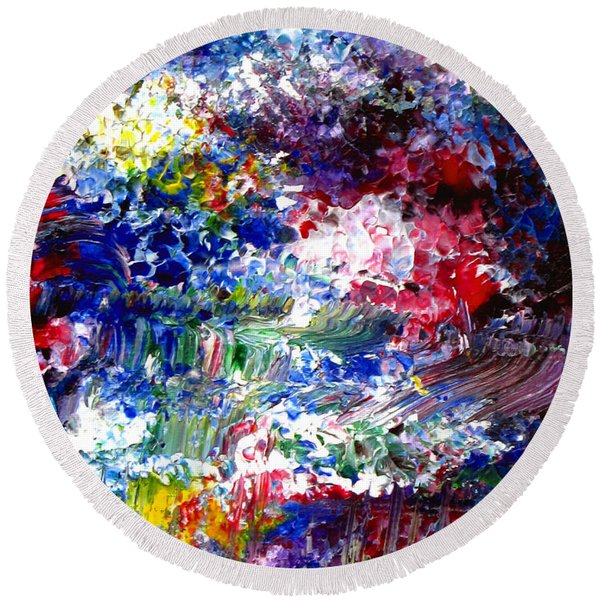 Abstract Series 070815 A2 Round Beach Towel