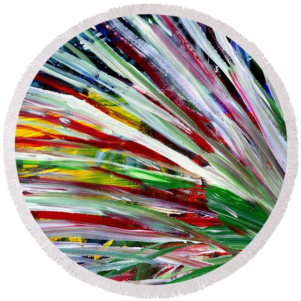 Abstract Series C1015cl Round Beach Towel