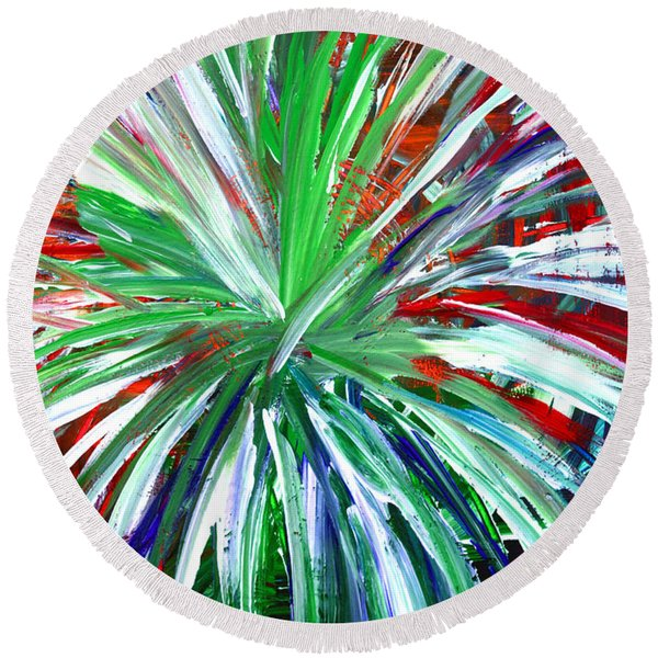 Abstract Series C1015dl Round Beach Towel