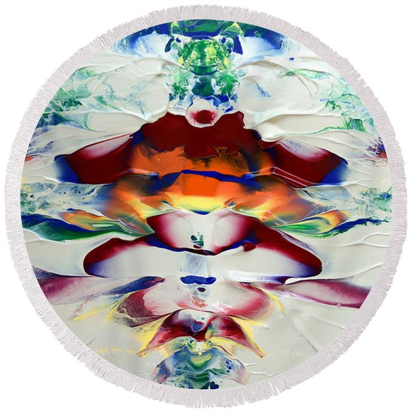 Abstract Series H1015a Round Beach Towel