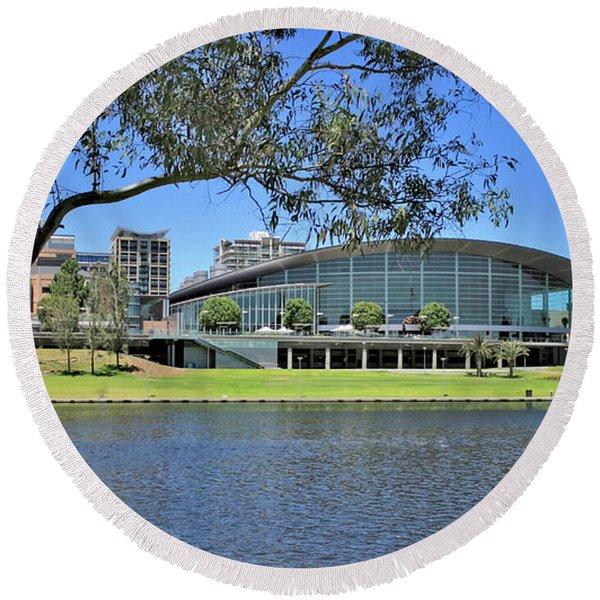 Adelaide Convention Centre Round Beach Towel