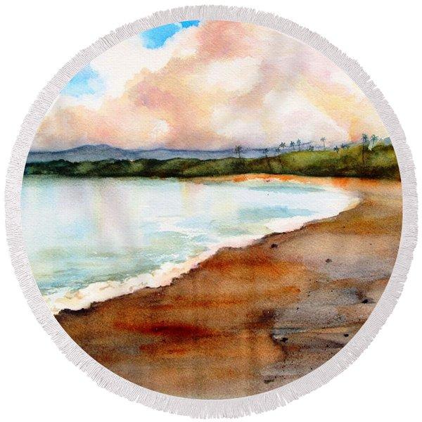 Aganoa Beach Savai'i Round Beach Towel