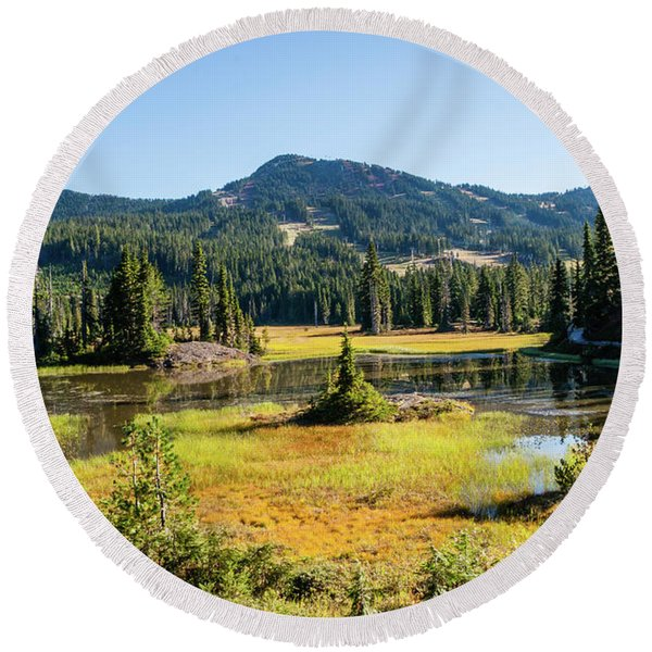 Alpine Meadows - 1 Round Beach Towel