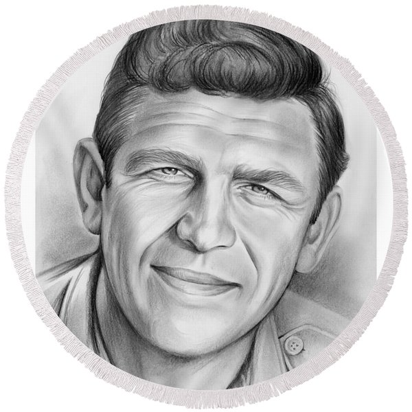 Andy Griffith Round Beach Towel