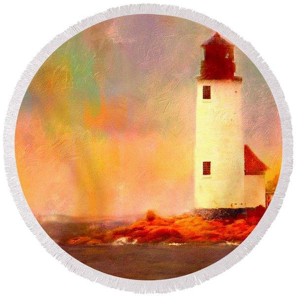 Annisquam Rainbow Round Beach Towel