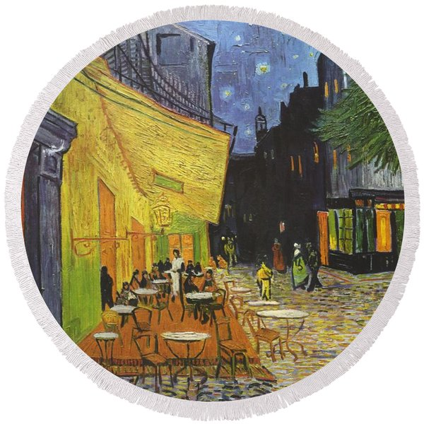 Painting - Arles Cafe Terrace At Night by Vincent van Gogh