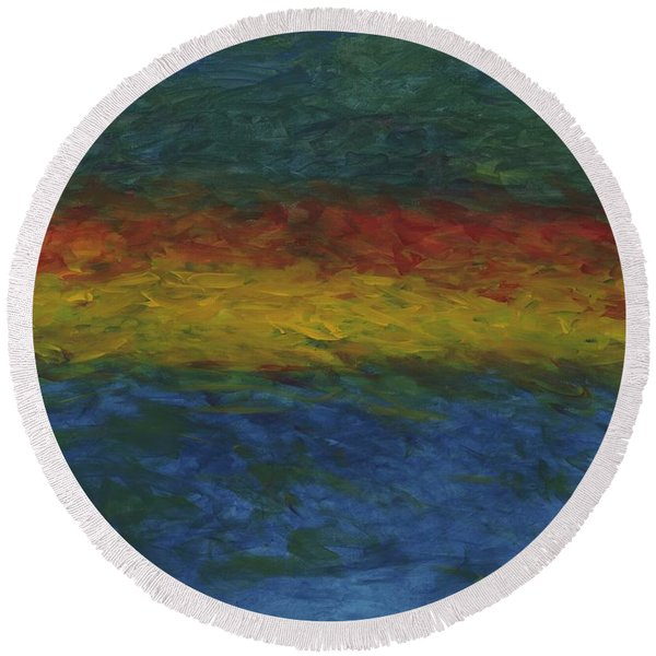 As Above, So Below Round Beach Towel