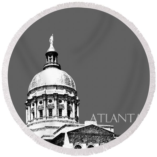 Atlanta Capital Round Beach Towel