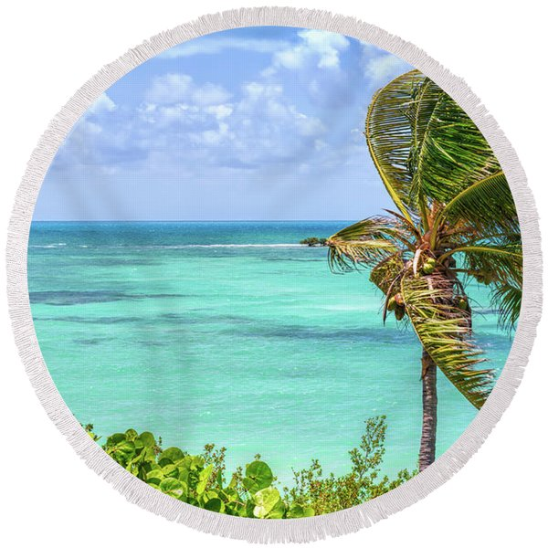 Bahia Honda State Park Atlantic View Round Beach Towel