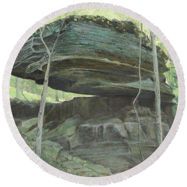 Balancing Rock Round Beach Towel