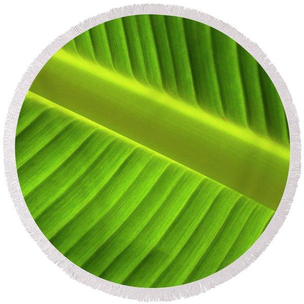 Banana Leaf Round Beach Towel