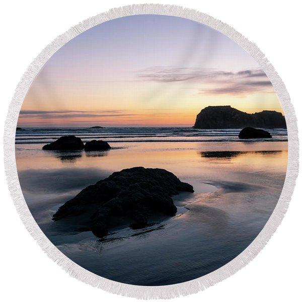 Bandon Reflections Round Beach Towel