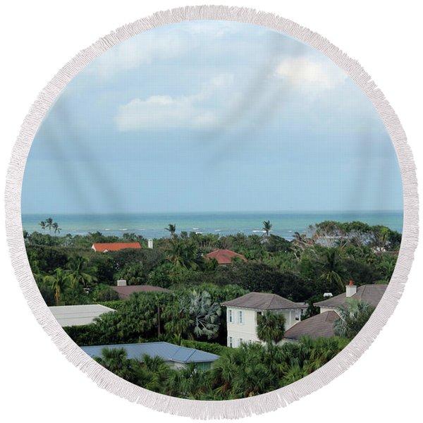Round Beach Towel featuring the photograph Beautiful Vero Beach Florida by Megan Dirsa-DuBois
