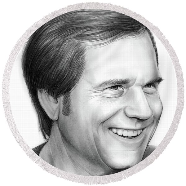Bill Paxton Round Beach Towel