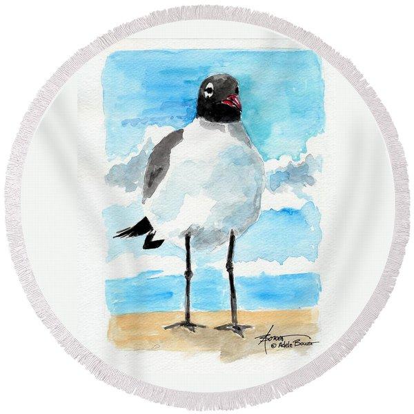 Bird Legs Round Beach Towel
