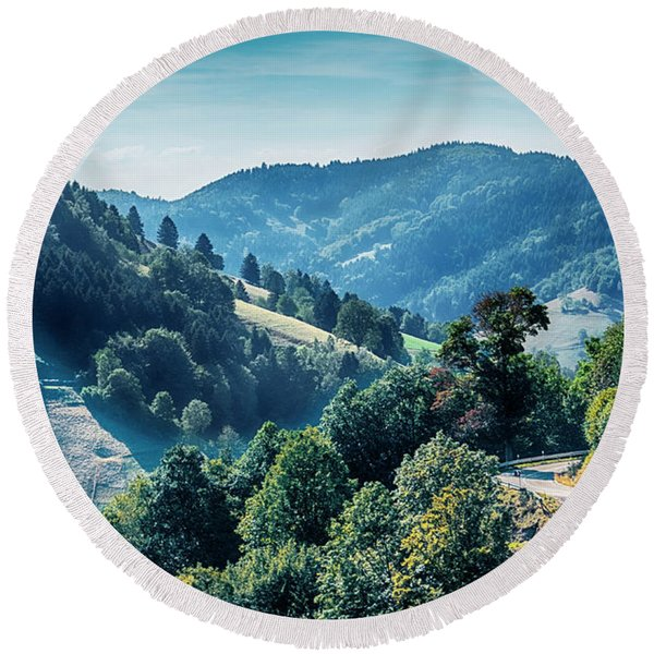 Round Beach Towel featuring the photograph Black Forest Aria, Germany by Ariadna De Raadt