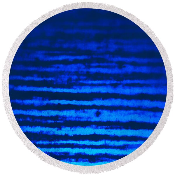 Blue Sea Dream Round Beach Towel
