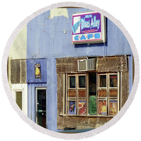 Blues Alley, Clarksdale Round Beach Towel