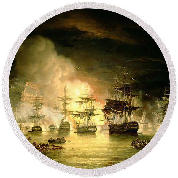 Bombardment Of Algiers Round Beach Towel