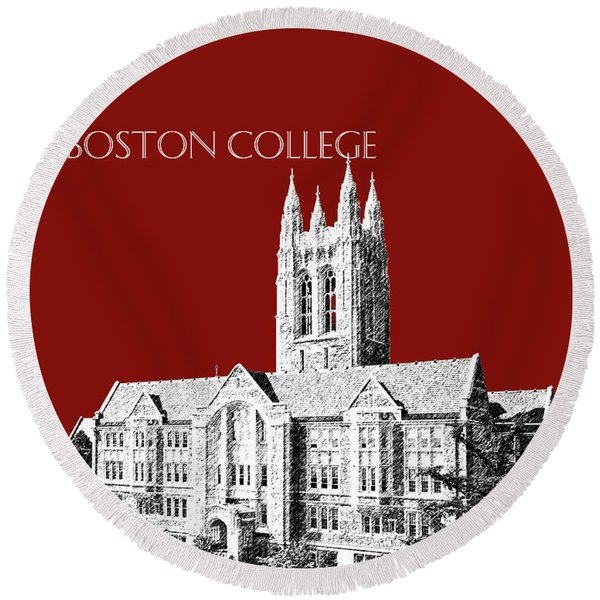 Boston College - Maroon Round Beach Towel