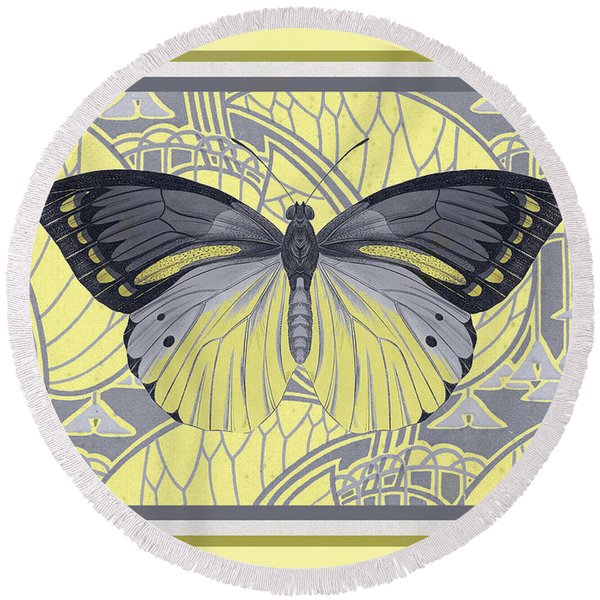 Butterfly 17 Round Beach Towel
