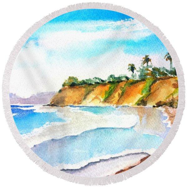 Butterfly Beach Santa Barbara Round Beach Towel