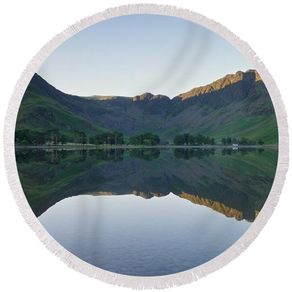 Buttermere Reflections Round Beach Towel