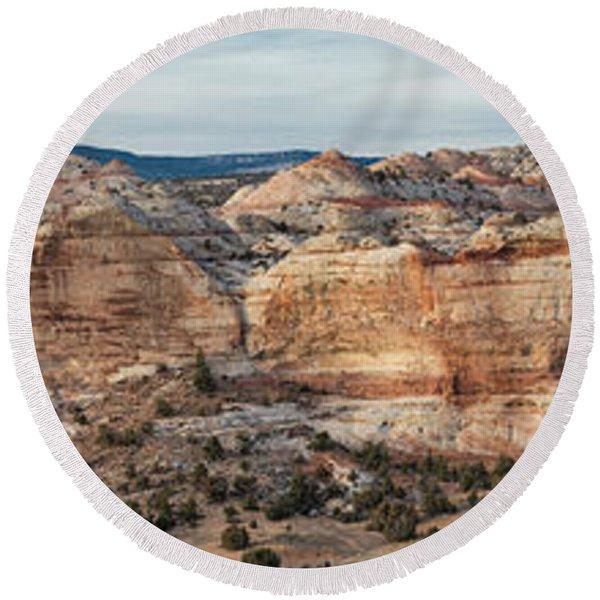Calf Creek Canyon Grand Staircase Escalante Utah Round Beach Towel