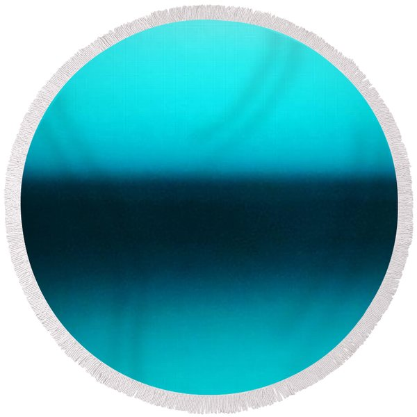Calm Morning Round Beach Towel