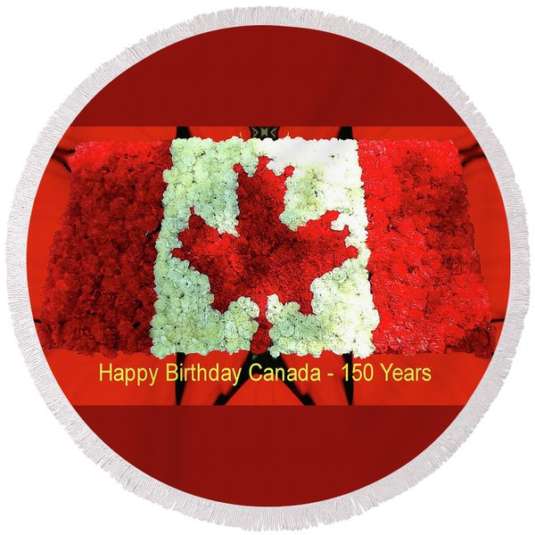 Canada 150 Years Round Beach Towel