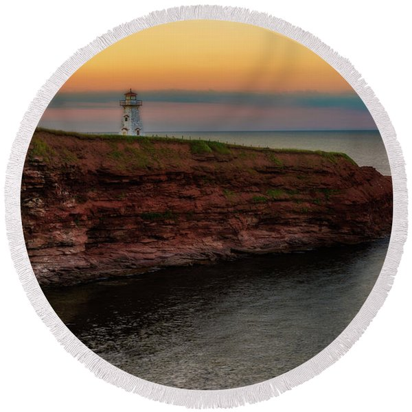 Cape Tryon Round Beach Towel