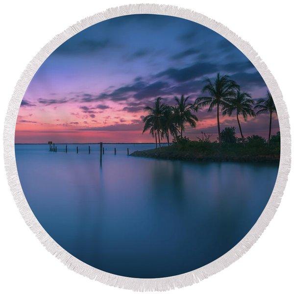 Captiva Sunset Round Beach Towel