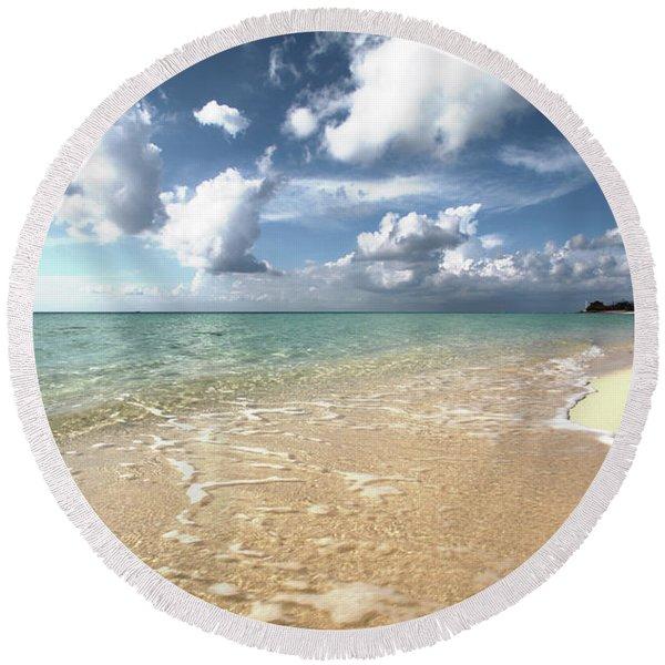 Carib View Round Beach Towel