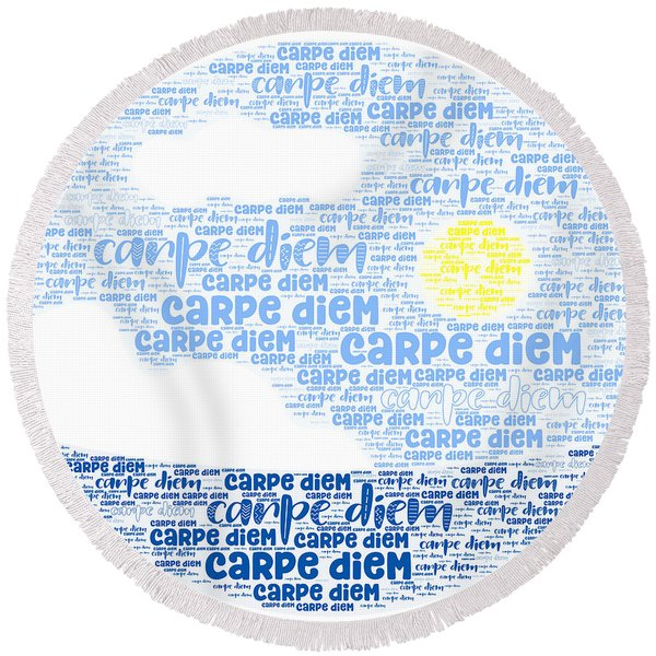 Carpe Aestatem Round Beach Towel