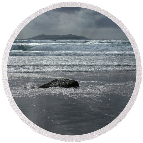 Carrowniskey Beach Round Beach Towel