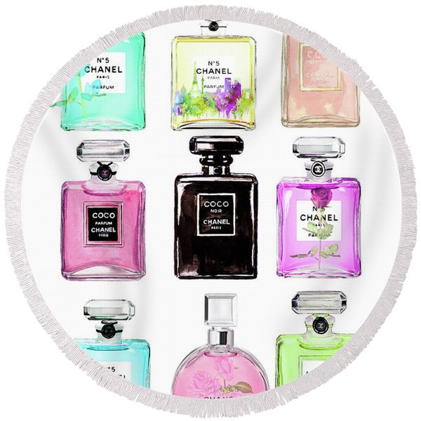Chanel Perfume Set 9er Round Beach Towel