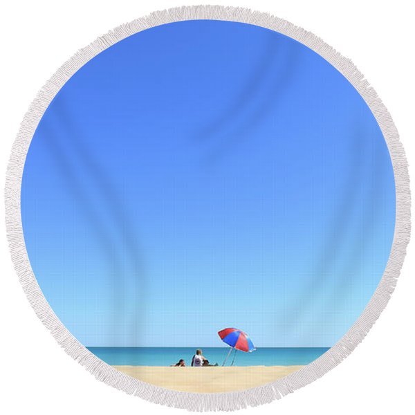 Chilling At Cable Beach Round Beach Towel