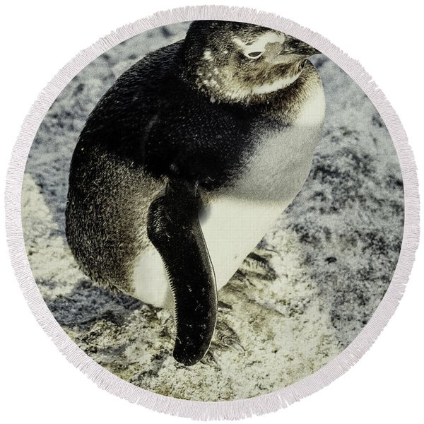 Chillypenguin Round Beach Towel