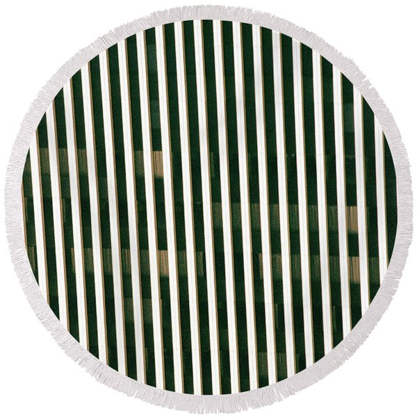 City Stripes Round Beach Towel