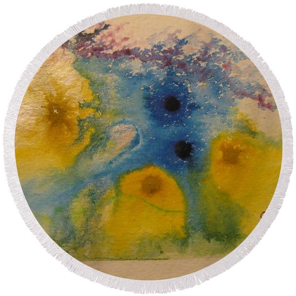 Colourful Round Beach Towel