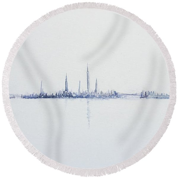 Cool Morning Round Beach Towel